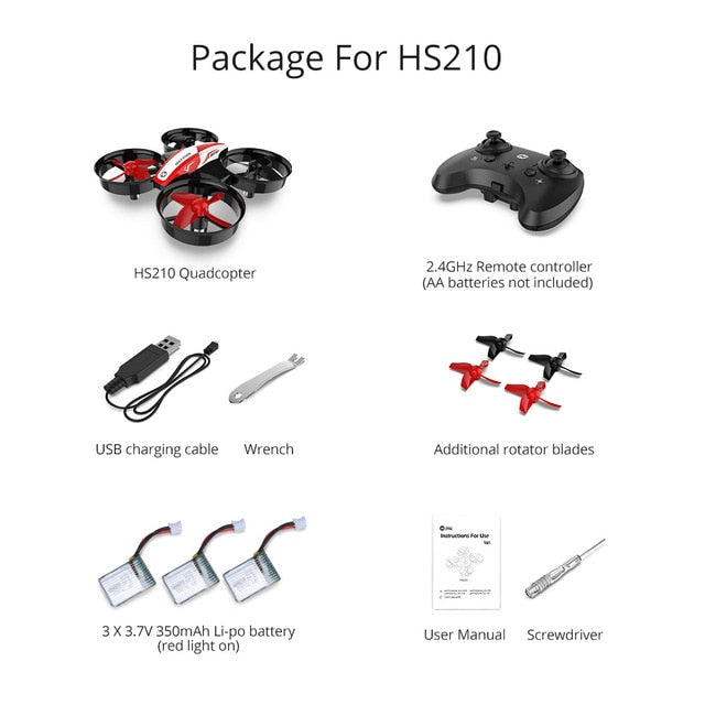 Remote Control Holy Stone HS210 Mini RC Drone Quadcopters