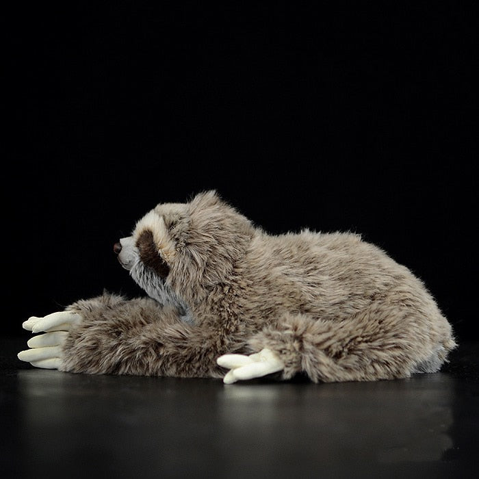 Three Toed Sloth Plush Toys with Magnetic Paws Soft Stuffed Animal Doll