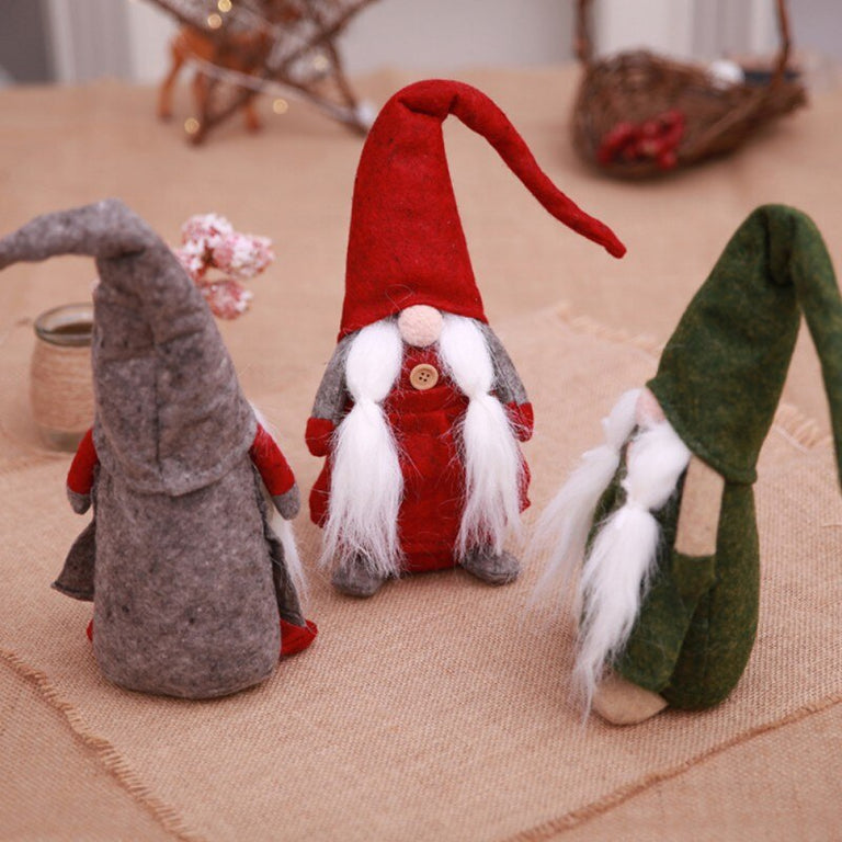 Christmas Plush Stuffed Toys Cute Sitting Long-legged Elf Genius Festival New Year Dinner Party Tomte Doll Newborn photography