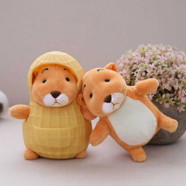 NewCute 1pcs Sitting High 12cm Peanut Rat Plush Toys Peanut Rat Soft Stuffed Animals Doll For Children Gifts   1