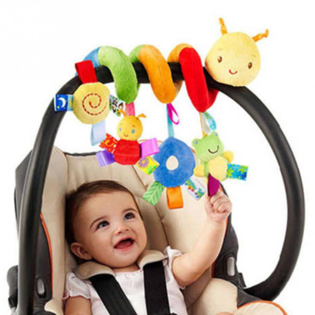 Baby Plush Animal Rattle Mobile For Infant Stroller