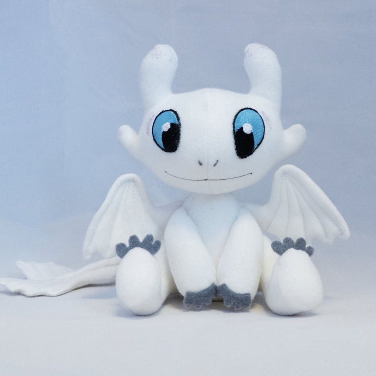 How to Train Your Dragon 3 Plush Toy Light Fury Soft White Dragon Stuffed Doll Christmas Gift 25cm