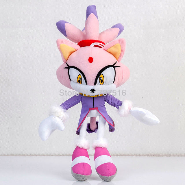 New Sonic Series Purple Lilac cat Different world Princess Blaze the Cat Plush Soft Doll Stuffed Animal Toys Kids Gifts 14 Inch