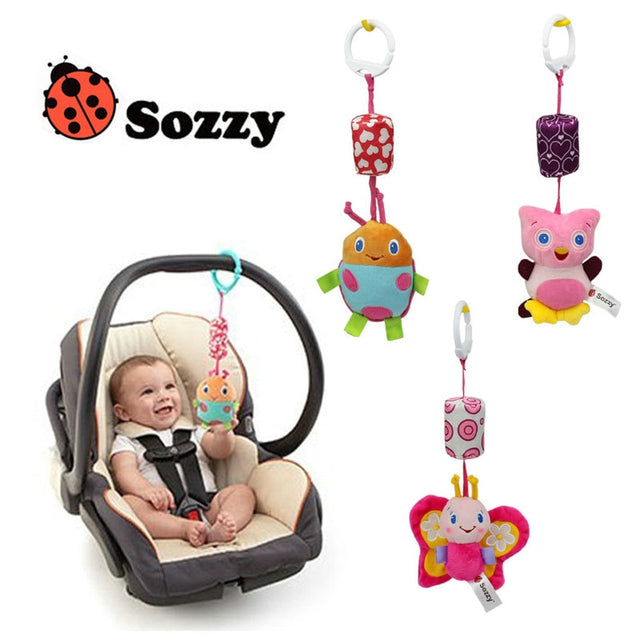 Cartoon Infant Baby Toys Bell Mobile Baby Plush Toy baby bed holder Wind Chimes Rattles Bell Toy Baby Crib Bed Hanging Bells Toy