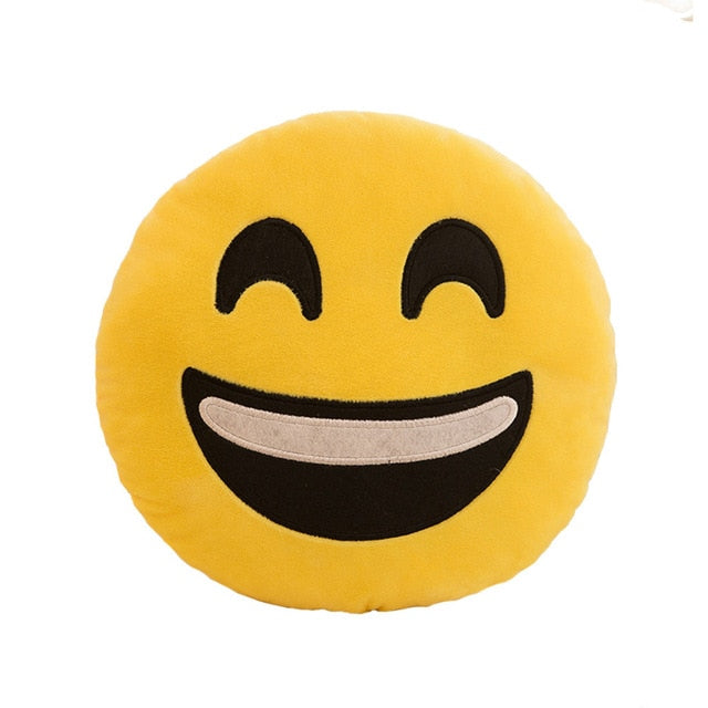 32cm Stuffed Toys Soft Smiley Emoticon Stuffed Plush Toy Doll Pillow Case cover 10.30
