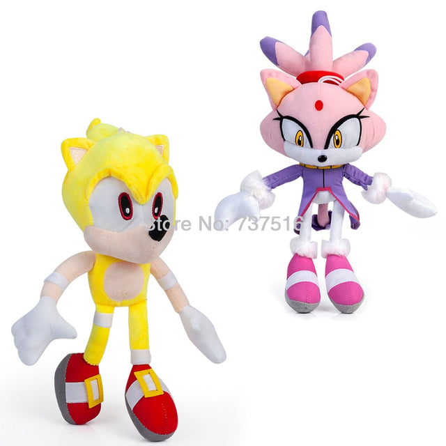New Sonic the Hedgehog Series Super Sonic Purple Lilac cat Different world Princess Blaze the Cat Plush Doll Stuffed Toys Gifts