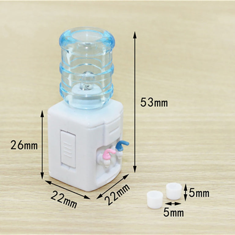 1/12 Dollhouse Miniature Life Play Scene Model Simulation Doll House Decor Accessories DIY Mini Water Dispenser Kids Toys D9#