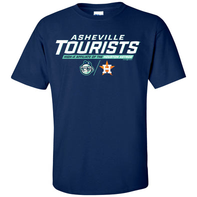 The Asheville Tourists and Houston Astros Affiliate Navy Cotton Shirt
