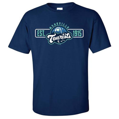 Asheville Tourists Navy Primary Logo Established 1915