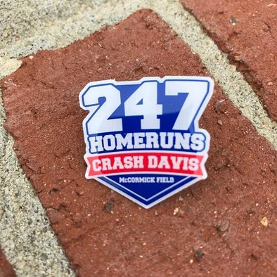Asheville Tourists Crash Davis Lapel Pin