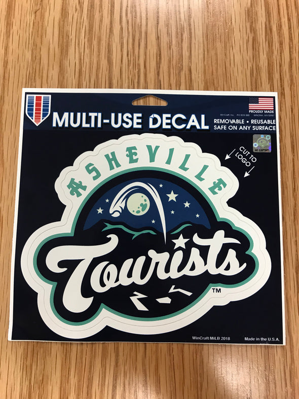 The Asheville Tourists Multi-Use Decal