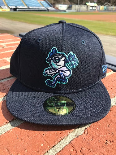 The Asheville Tourists Batting Practice New Era Full Body Moon Fitted Cap