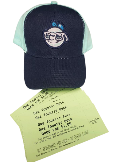 The Asheville Tourists Cap & Tourists Bucks Valentine's Day Special
