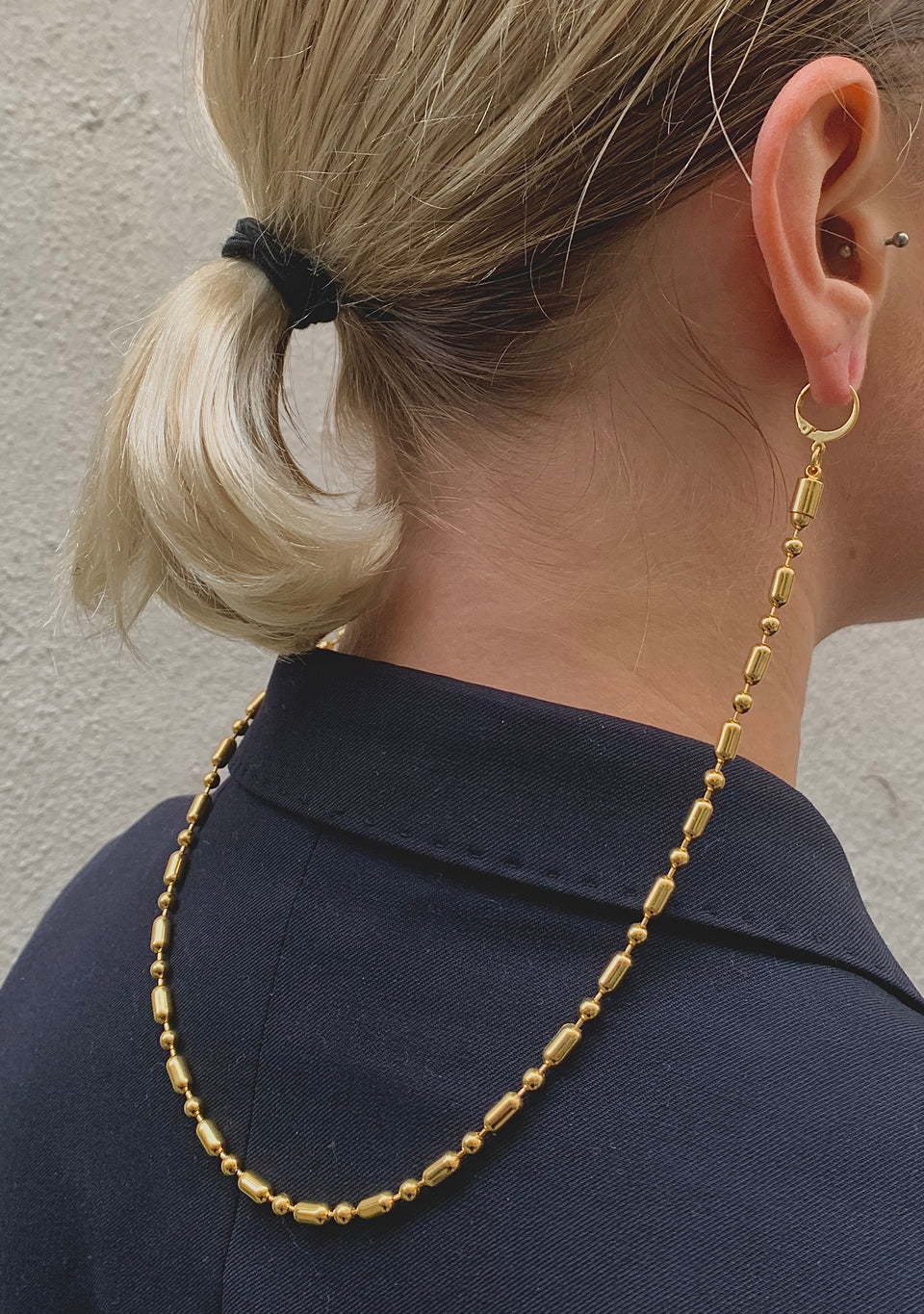 Long Bold Chain Double Earring