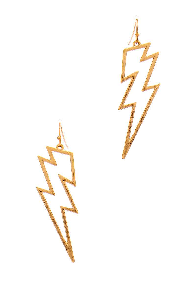 Stylish Lightning Outline Drop Earring - JCreatedByJennie