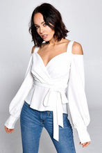 Load image into Gallery viewer, Long Sleeve Cold Shoulder Top