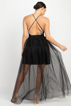 Load image into Gallery viewer, Sleeveless Cross Back Mesh Dress