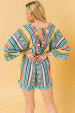 Load image into Gallery viewer, Multicolored Surplice Romper