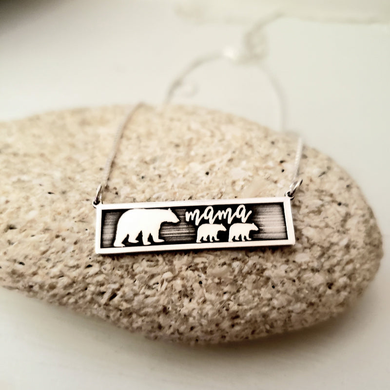 MMBR01 - Mama Bear Necklace up to 6 cubs