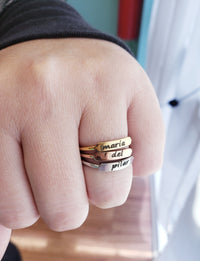 Engraved Stackable Ring
