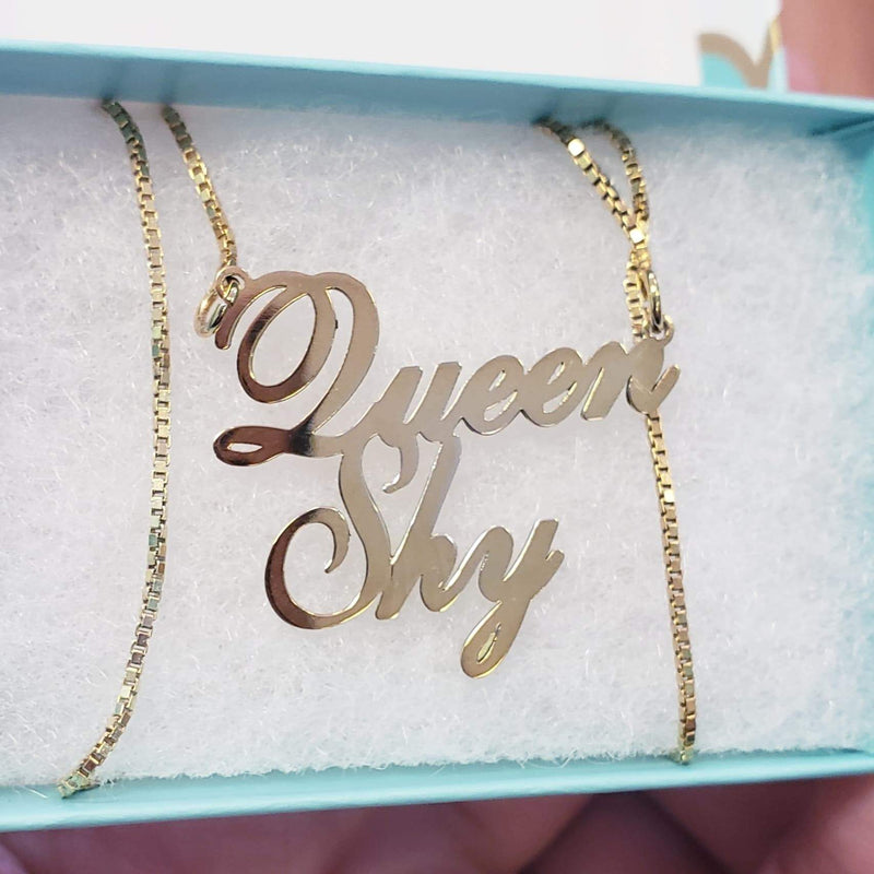 Signature Double Name Necklace
