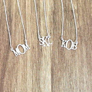 BLK01- Block Monogram Necklace