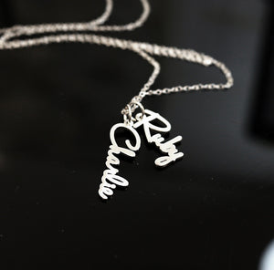 HAV01 - Vertical Family Charm Necklace
