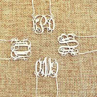 MNVN01 - Mini Vine Monogram Necklace