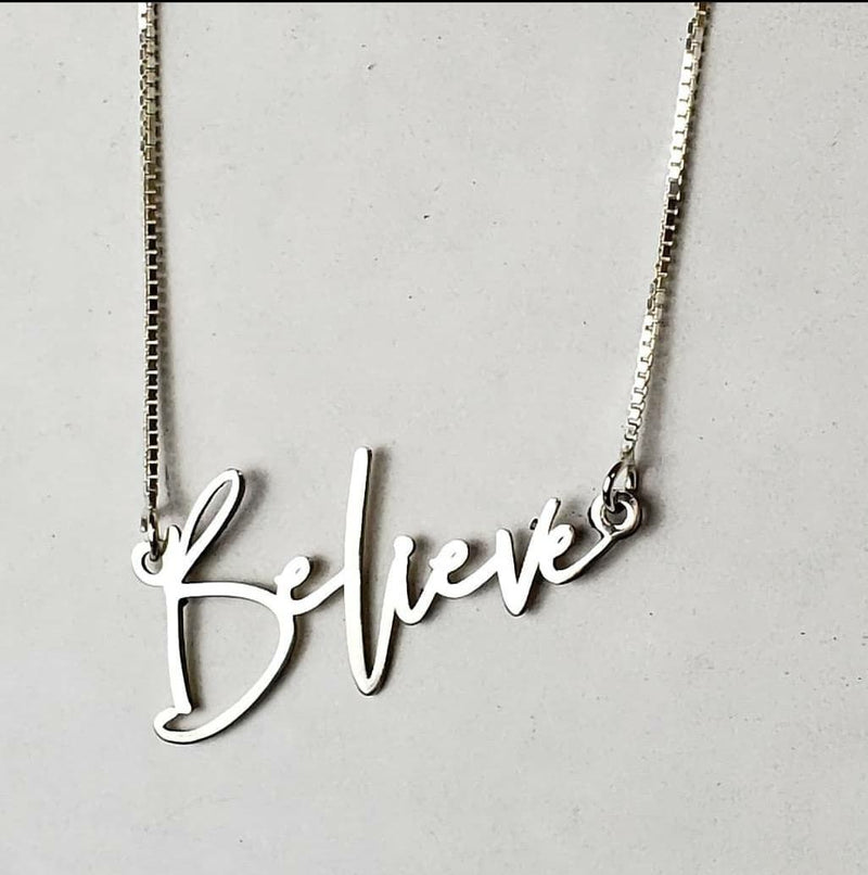 RS02 - Believe Name Necklace