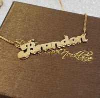 RTR01 - Retro style Name Necklaces