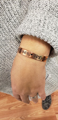 ALCF01 - Personalized Deep Engraved Cuff Bracelet