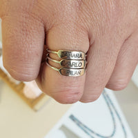 RNG02 Engraved Rings (restocked, plenty of sizes available)