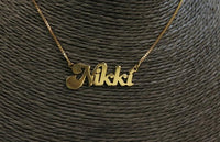 Retro Name Necklace - Exquisite Blinks by V.