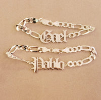 Old English Large Chain Bracelet for Him