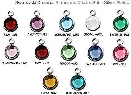 Add a swarovski birthstone charm to your order