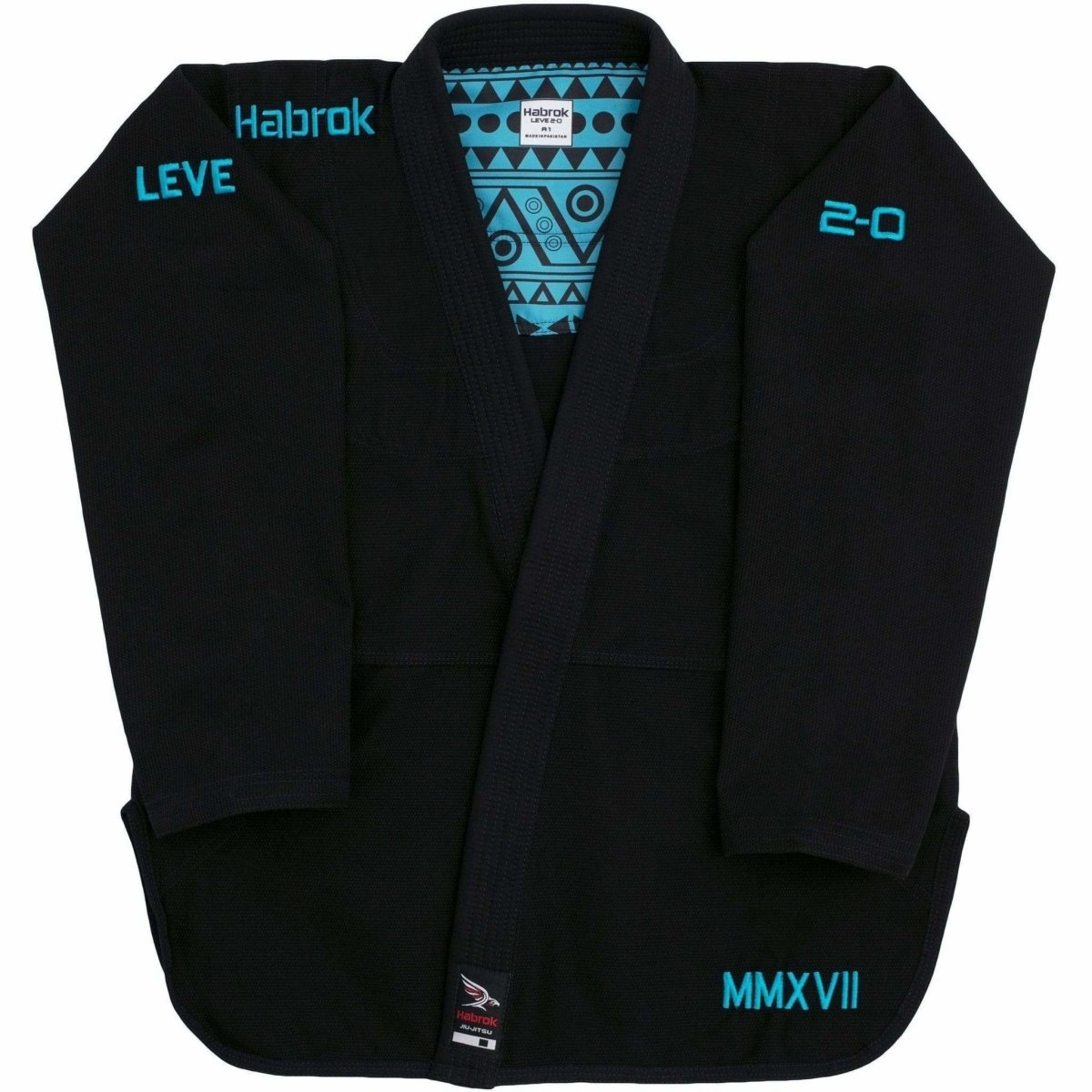 Habrok Jiu Jitsu Gi A00 / BLACK Leve 2.0 | BJJ GI Men | Premium Ultra Light Weight  | JIU JITSU