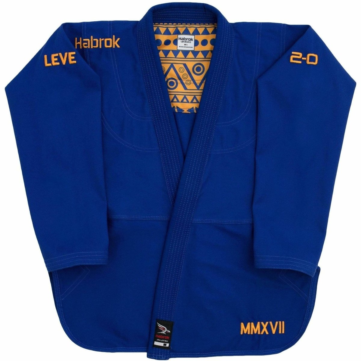 Habrok Jiu Jitsu Gi A00 / BLUE Leve 2.0 | BJJ GI Men | Premium Ultra Light Weight  | JIU JITSU