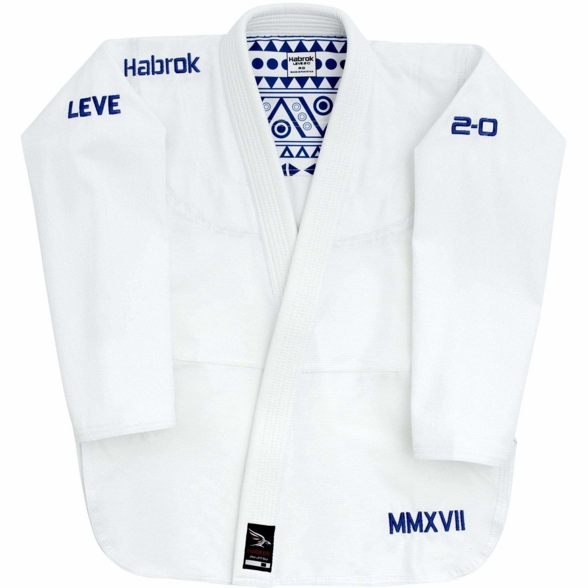 Habrok Jiu Jitsu Gi A00 / WHITE Leve 2.0 | BJJ GI Men | Premium Ultra Light Weight  | JIU JITSU