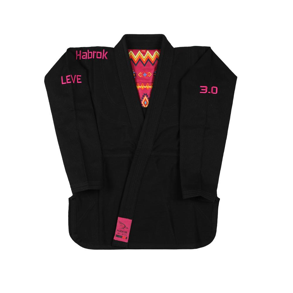Habrok Jiu Jitsu Gi F0 / BLACK Leve 3.0 | Premium Ultra Light | BJJ GI | Women | Black