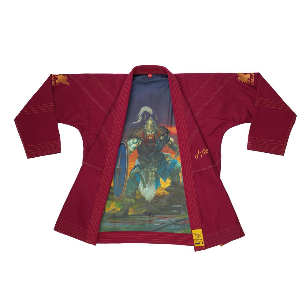 Habrok Jiu Jitsu Gi K0 / MAROON Celtic Warrior | Youth BJJ GI | Pugnator Series | Light Weight | Habrok