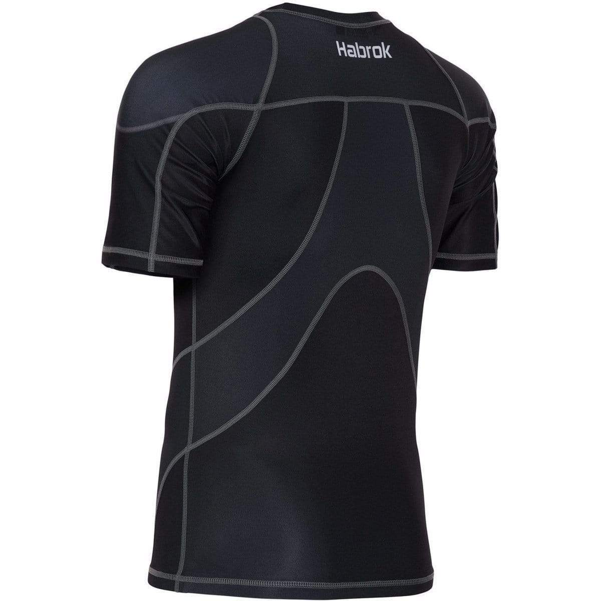 Habrok Rash Guard Pugnator 2.0 | Rash Guard | Half Sleeve | Men | Black Pugnator | BJJ Rash Guard | Habrok