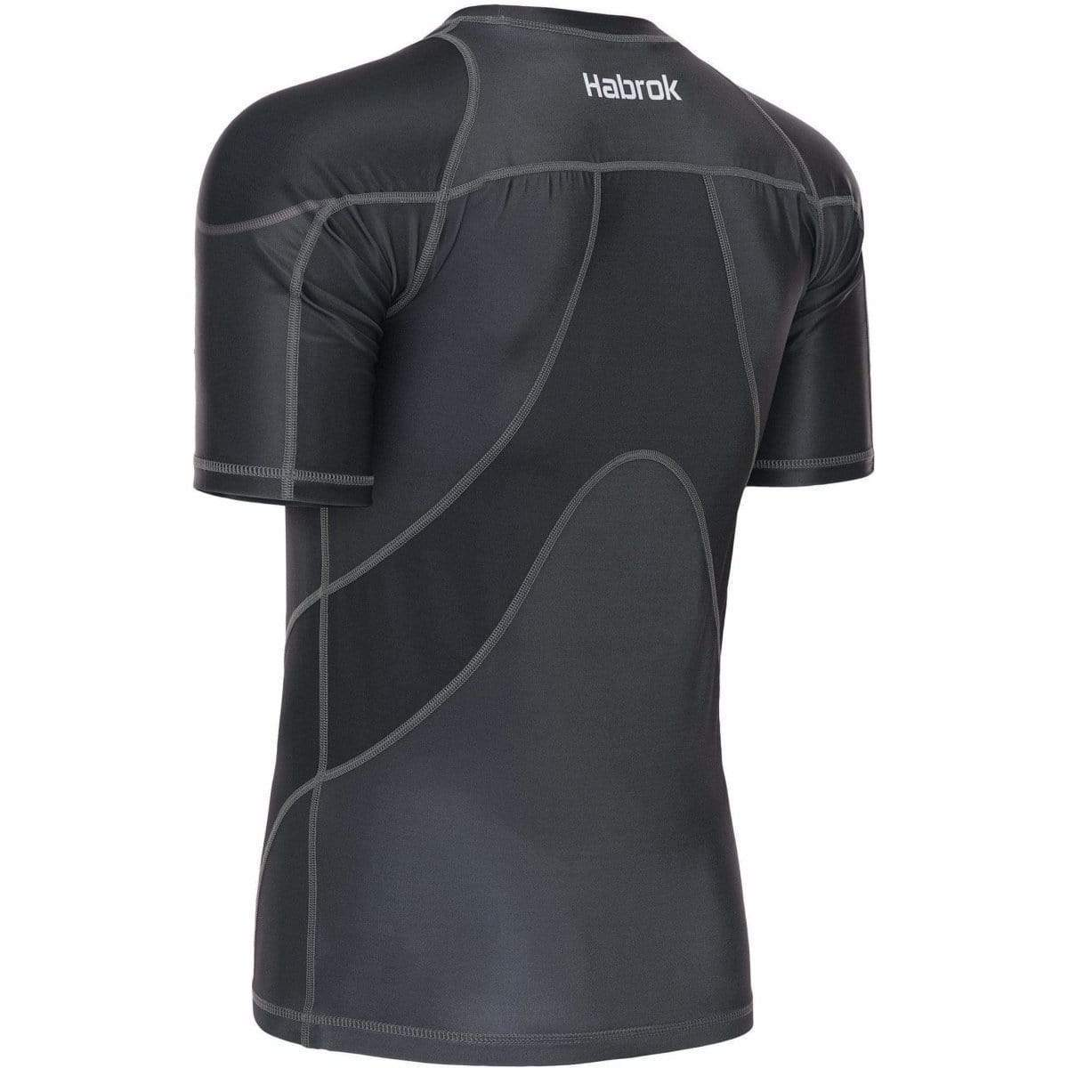 Habrok Rash Guard S / GREY Pugnator 2.0 | Rash Guard | Half Sleeve | Men | Grey Pugnator | BJJ Rash Guard | Habrok