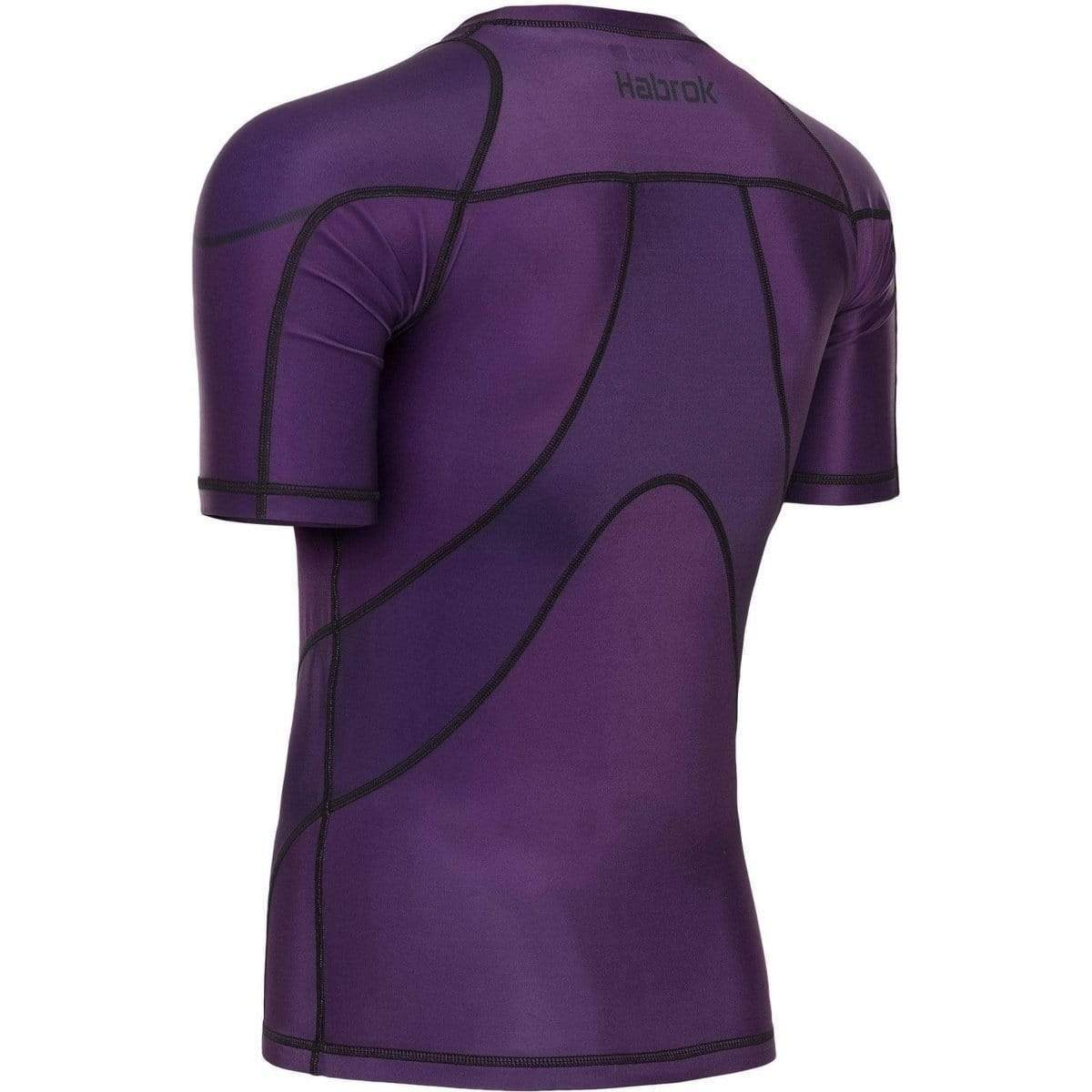 Habrok Rash Guard Pugnator 2.0 | Rash Guard | Half Sleeve | Men | Purple Pugnator | BJJ Rash Guard | Habrok