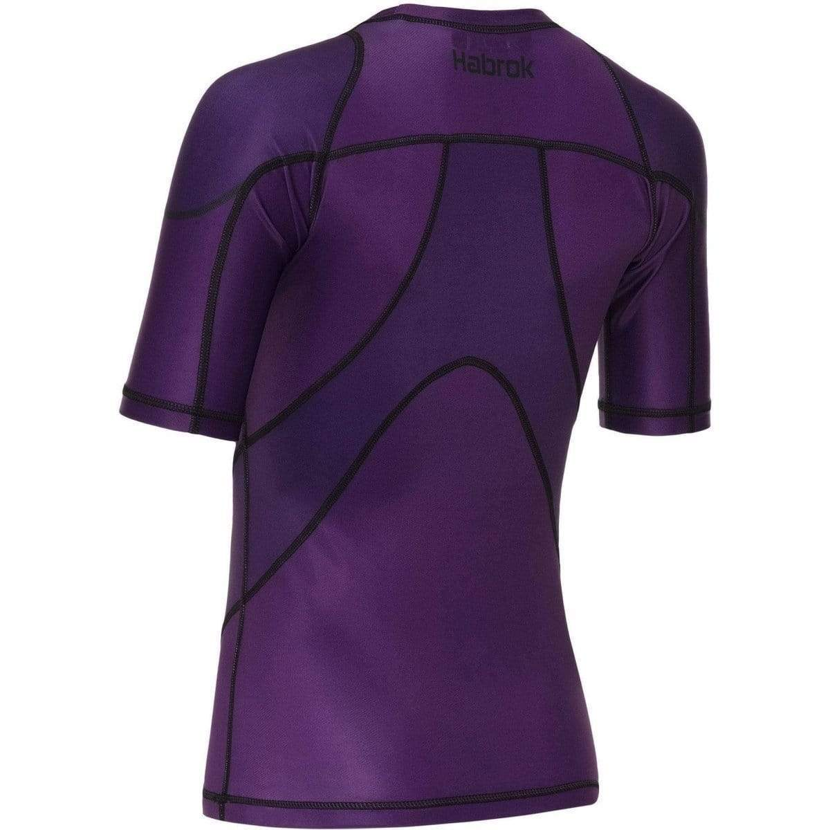 Habrok Rash Guard Pugnator 2.0 | Rash Guard | Women | Half Sleeve | Purple