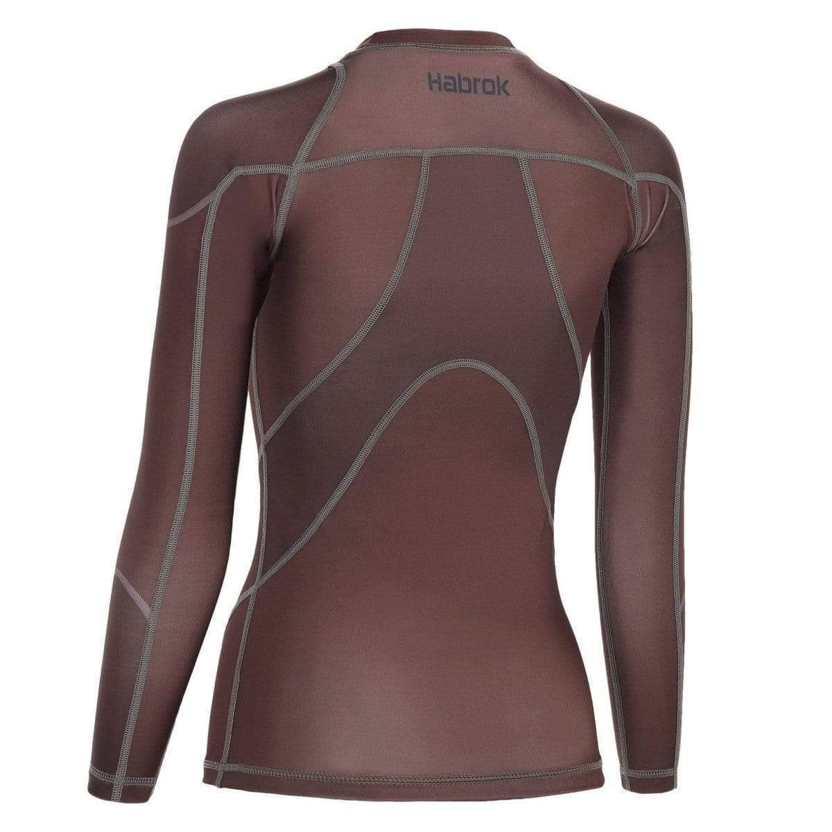 Habrok Rash Guard Pugnator | Rash Guard | Full Sleeve | Brown | Women