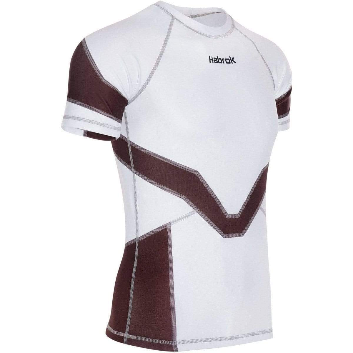Habrok Rash Guard S / BROWN Transform 2.0 | Ranked Rash Guard Men | Half Sleeve | Men