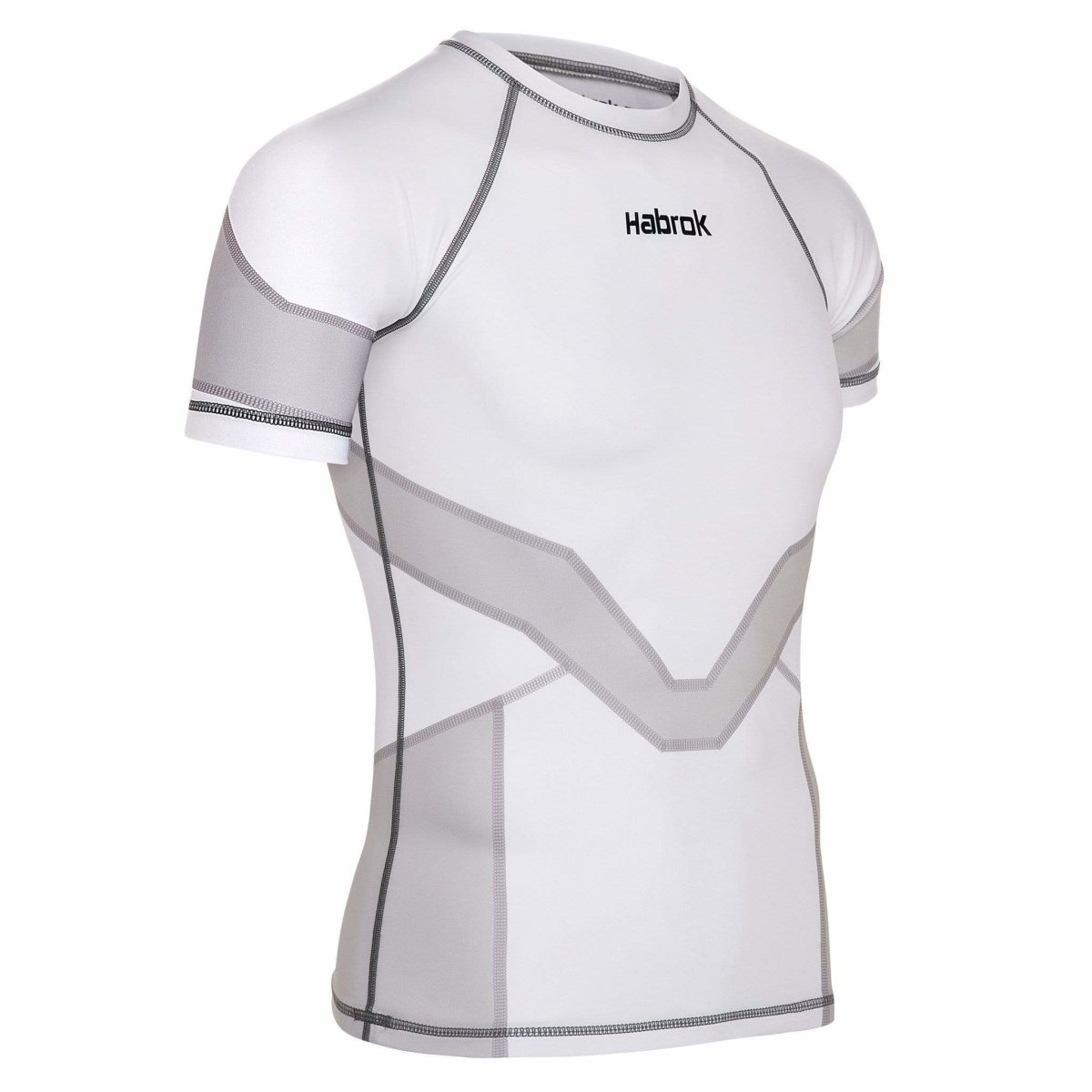 Habrok Rash Guard S / GREY Transform 2.0 | Ranked Rash Guard Men | Half Sleeve | Men