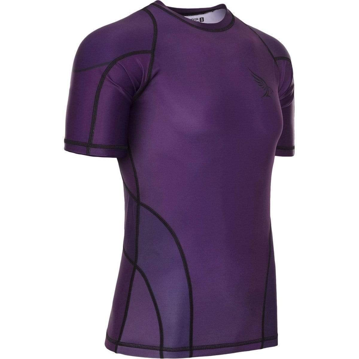 Habrok Rash Guard S / PURPLE Pugnator 2.0 | Rash Guard | Half Sleeve | Men | Purple Pugnator | BJJ Rash Guard | Habrok