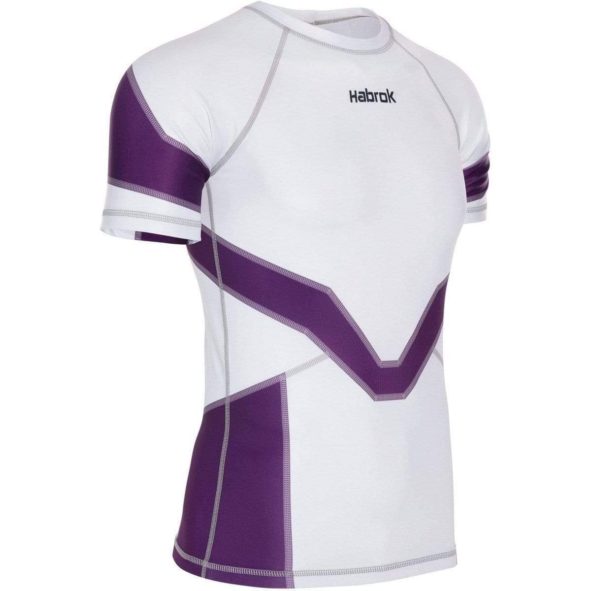 Habrok Rash Guard S / PURPLE Transform 2.0 | Ranked Rash Guard Men | Half Sleeve | Men