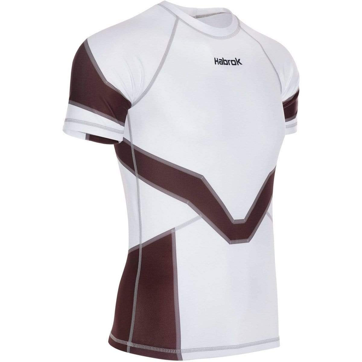 Habrok Rash Guard XS / BROWN Transform 2.0 | Ranked Rash Guard Women | Half Sleeve